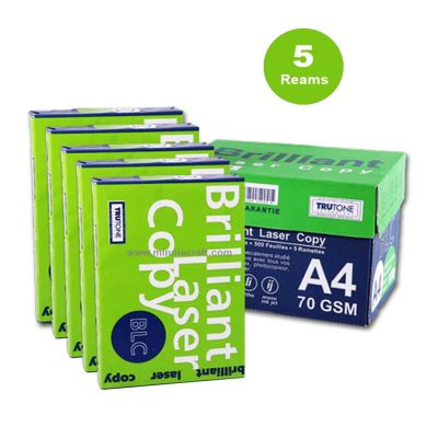 BLC  A4 Paper 70GM  Pack of 5 Reams (500 Sheets in one ream)