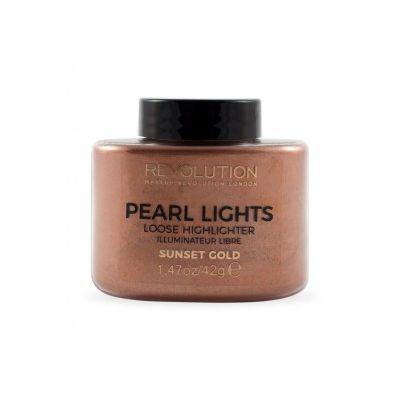 Makeup Revolution Pearl Lights Loose highlighter  Sunset Gold
