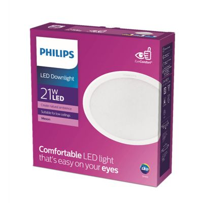 Philips Lights Meson 21W 30K Wh Recessed Led