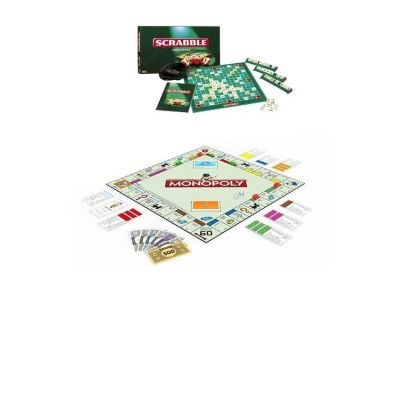 Pack of Board Games  Monopoly & Scrabble