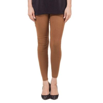 The-Ajmery Brown Viscose Tights for women Brown