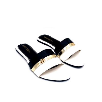 Leather Flat Slippers - 6798