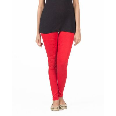 The-Ajmery Red Viscose Churidaar Tights For Women - KTY-124-RED