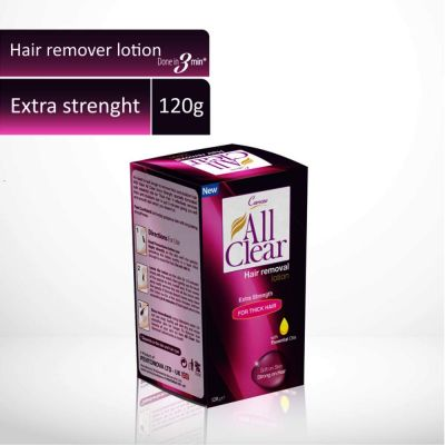 All Clear Hair Remover Lotion Large Extra Strength 120gm