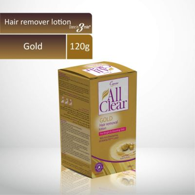 All Clear Hair Remover Lotion Large GOLD 120gm