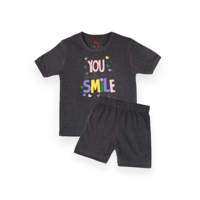 AllureP T-Shirt HS Charcoal You Smile CH Shorts