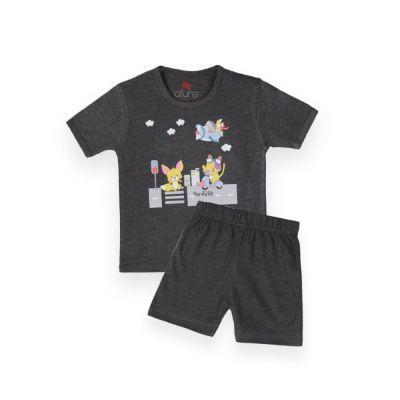 AllureP T-Shirt HS Charcole Animals CH Shorts