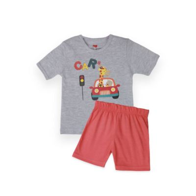 AllureP T-Shirt HS Grey Car DO Shorts
