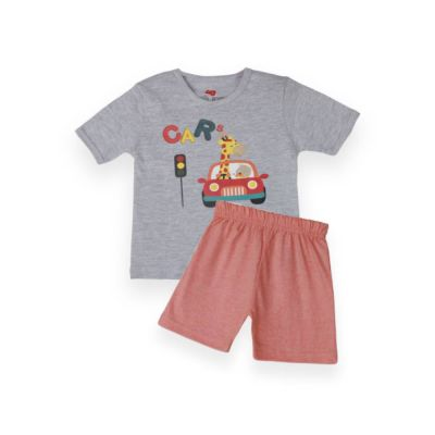 AllureP T-Shirt HS Grey Car LO Shorts