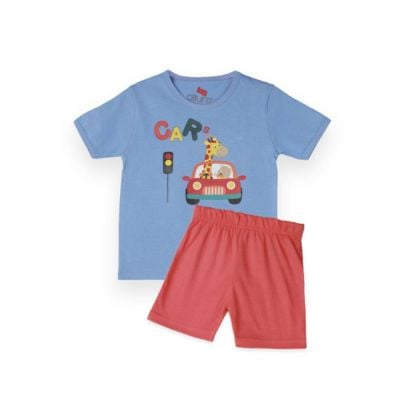 AllureP T-Shirt HS L Blue Car DO Shorts