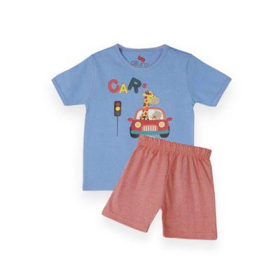AllureP T-Shirt HS L Blue Car LO Shorts