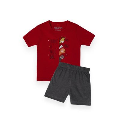 AllureP T-Shirt HS Red Nice day CH Shorts