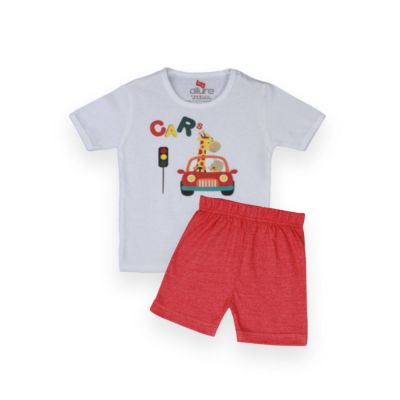 AllureP T-Shirt HS White Car Carrot Shorts