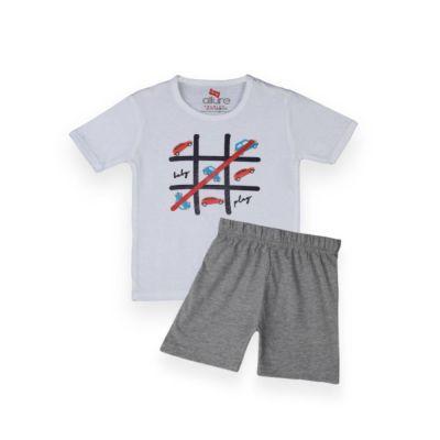 AllureP T-Shirt HS White Game Grey Shorts