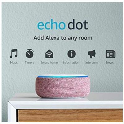 Amazon Speaker Echo Dot 3Rd Gen Heather (Gray, Charcoal,Plum)