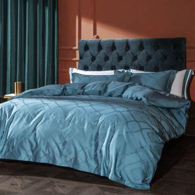 Bedding Set Fancy 4 Pcs Macchiato kelly-Sapphire Blue