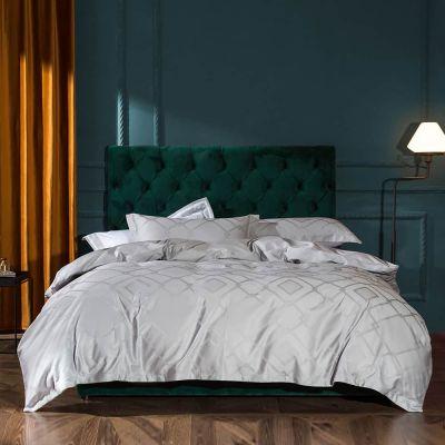 Bedding Set Fancy 4 Pcs Macchiato kelly-Silver Grey