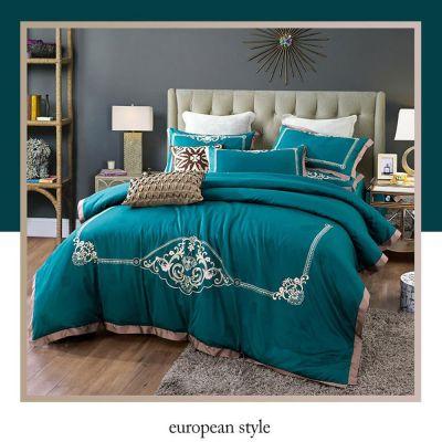 Bedding Set Fancy 4 Pcs Pure Cotton Dumba Embroidery