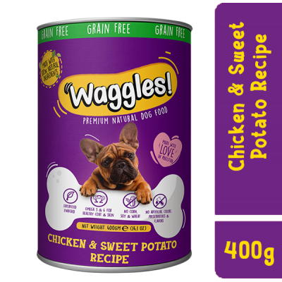 Waggles! Chicken and Sweet Potato Recipe  1 Can 400g