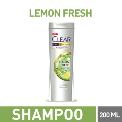 Clear Lemon Fresh Shampoo 185ml