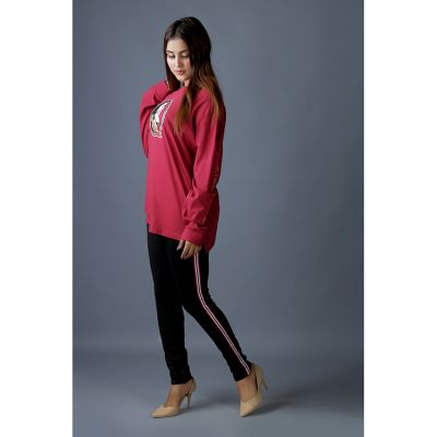 High Quality Knitted in  Side Strips Womens Leggings