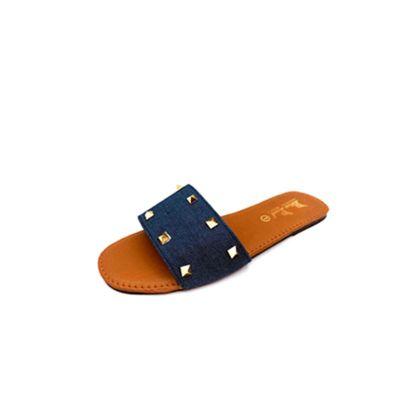 Women's Denim Flat Slippers