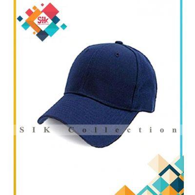 Navy Blue Cotton Baseball Caps