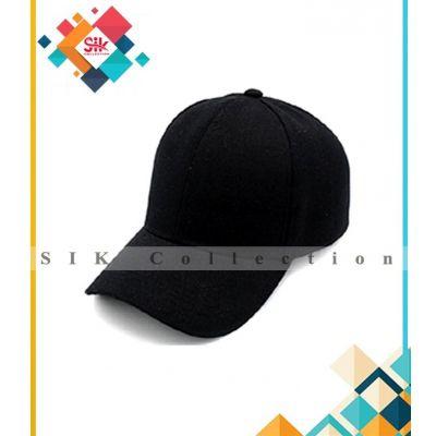 Black Cotton Baseball Caps