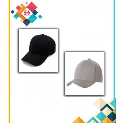 Pack Of 2  Black & Grey Cotton Baseball Cap