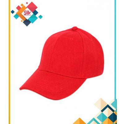 Red Cotton Baseball Caps Adjustable For Men