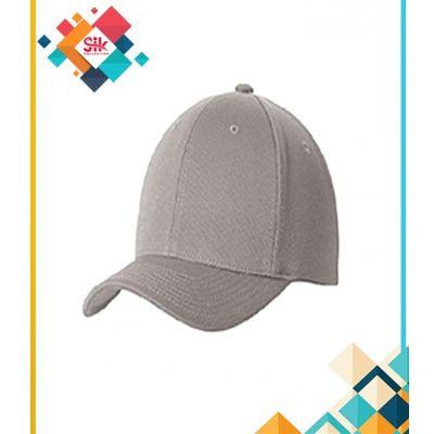Grey Cotton Baseball Caps