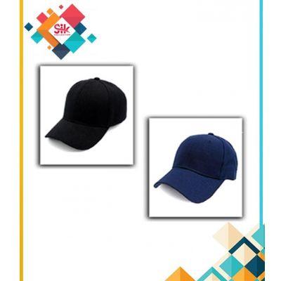 Pack Of 2  Navy Blue & Black Cotton Baseball Cap