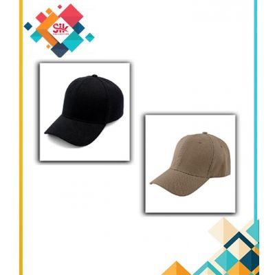 Pack of 2  Black & Brown Cotton Baseball Cap Adjustable For Men