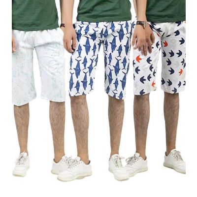 Pack of 3 Beach Printed Shorts For Men