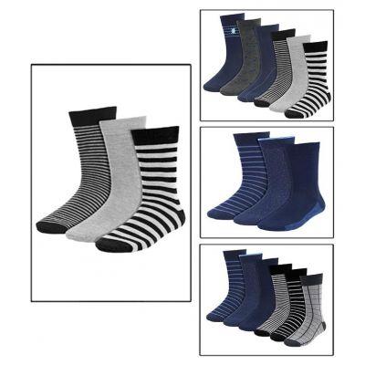 Pack of 09 Best Quality Cotton Dress Socks For Men