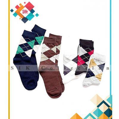 Pack Of 9  Imported Printed Dress Fancy Socks For Men