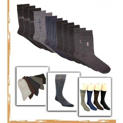 Pack of 12 Multicolored Dress Socks For Men