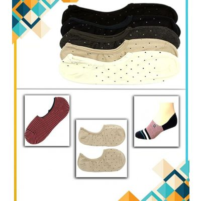 Pack of 6  Imported Dotted Low Cut Liners Socks for Men