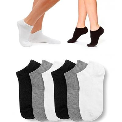 Pack of 12 Pairs  Exported Colorful Ankle Socks For Men