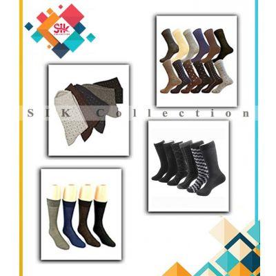 Pack of 9  Multicolored Cotton Dress Socks For Men