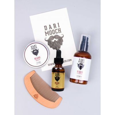 Starter Beard Grooming Kits: Gold