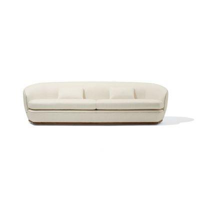 White Leatherright 3.5 Seater Sofa