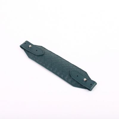 Genuine Woven Leather Face Mask Strap/Ear Saver  Deep Green