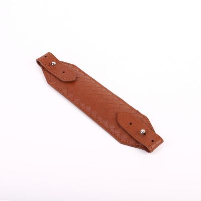 Genuine Woven Leather Face Mask Strap/Ear Saver  Red Brown