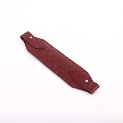 Genuine Woven Leather Face Mask Strap/Ear Saver  Burgundy