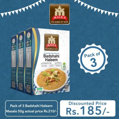 Pack of 3 Badshahi Haleem Masala 50g