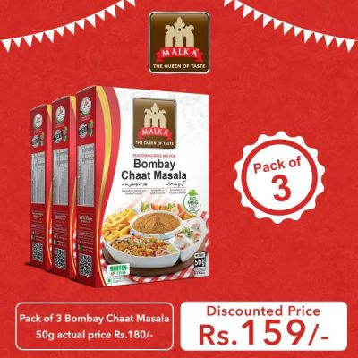 Pack of 3 Bombay Chaat Masala 50g