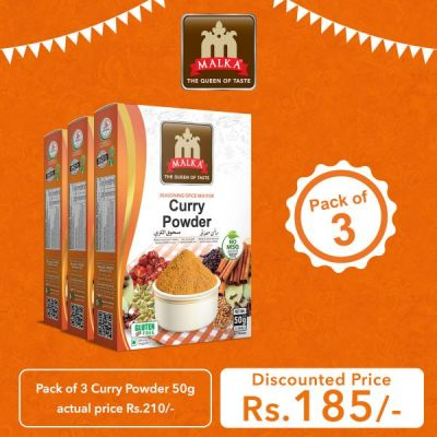 Pack of 3 Curry Powder Masala 50g
