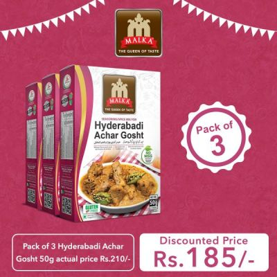 Pack of 3 Hyd. Achar Gosht Masala 50g