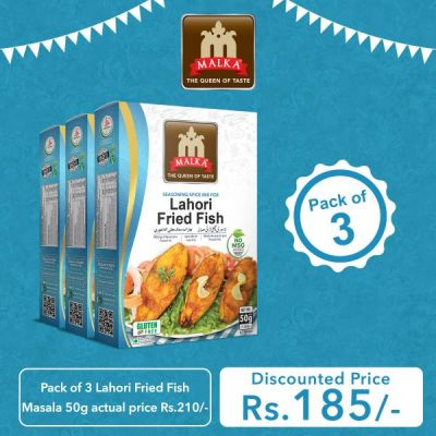 Pack of 3 Lahori Fried Fish Masala 50g